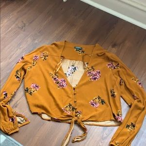 Wild fable floral crop top